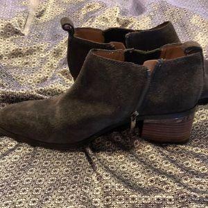 Franco Sarto Shoes - Franco Sarto grey suede western shoeties Sz 6.5